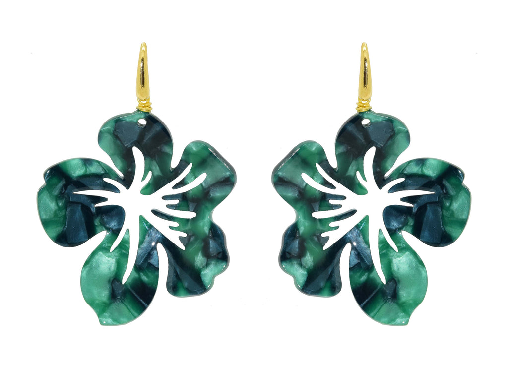 Cuba Libre Green | Resin Earrings