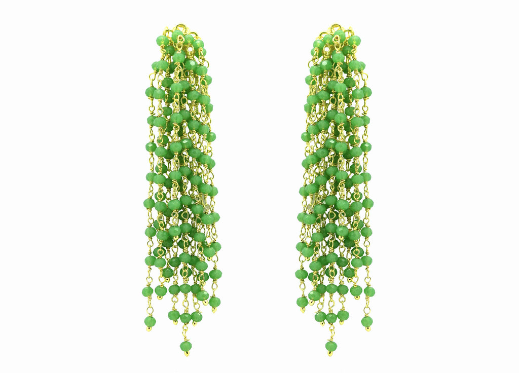 Edessa Sage Green | Crystals Earrings