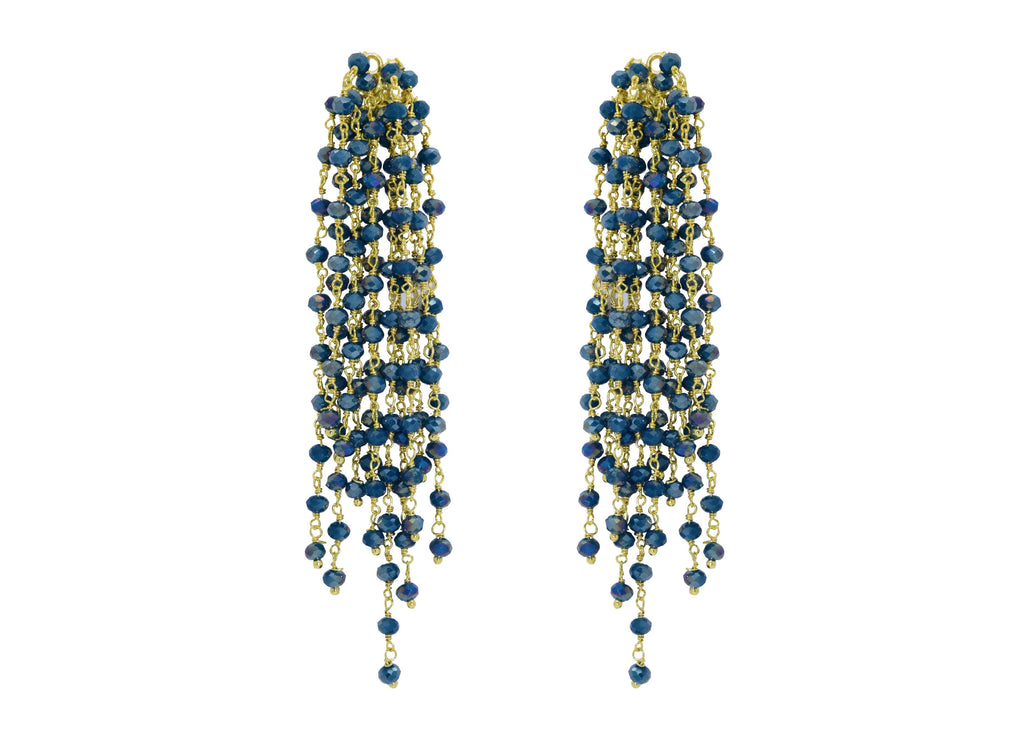 Edessa Teal | Crystals Earrings