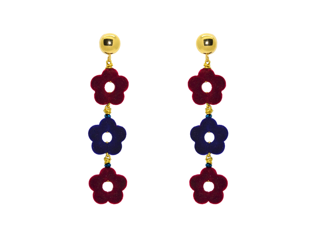 Flower Power Barca | Resin Earrings