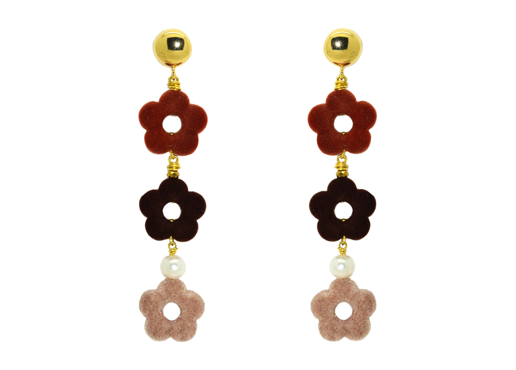 Flower Power Teddy | Resin Earrings