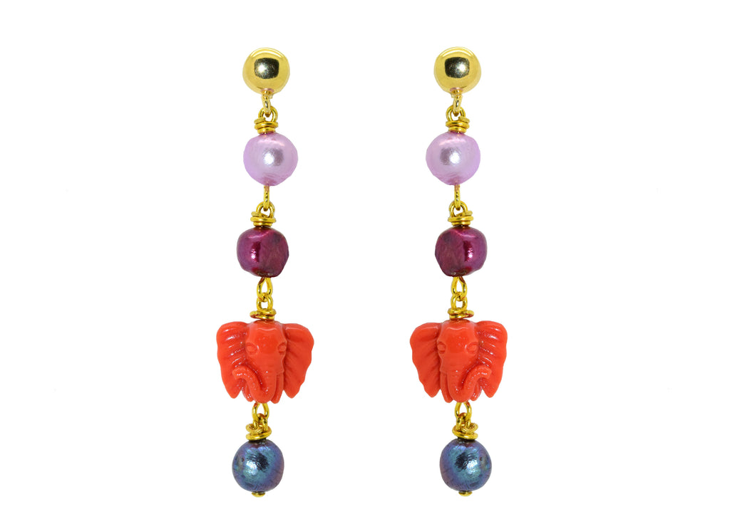 Ganesh | Shell Earrings
