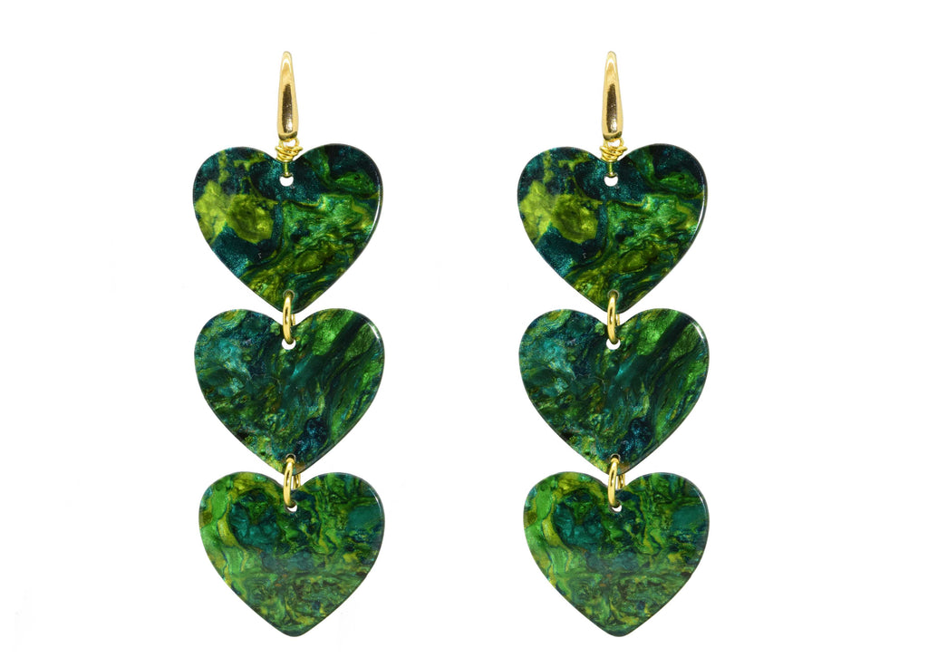 Heart of the Jungle | Resin Earrings