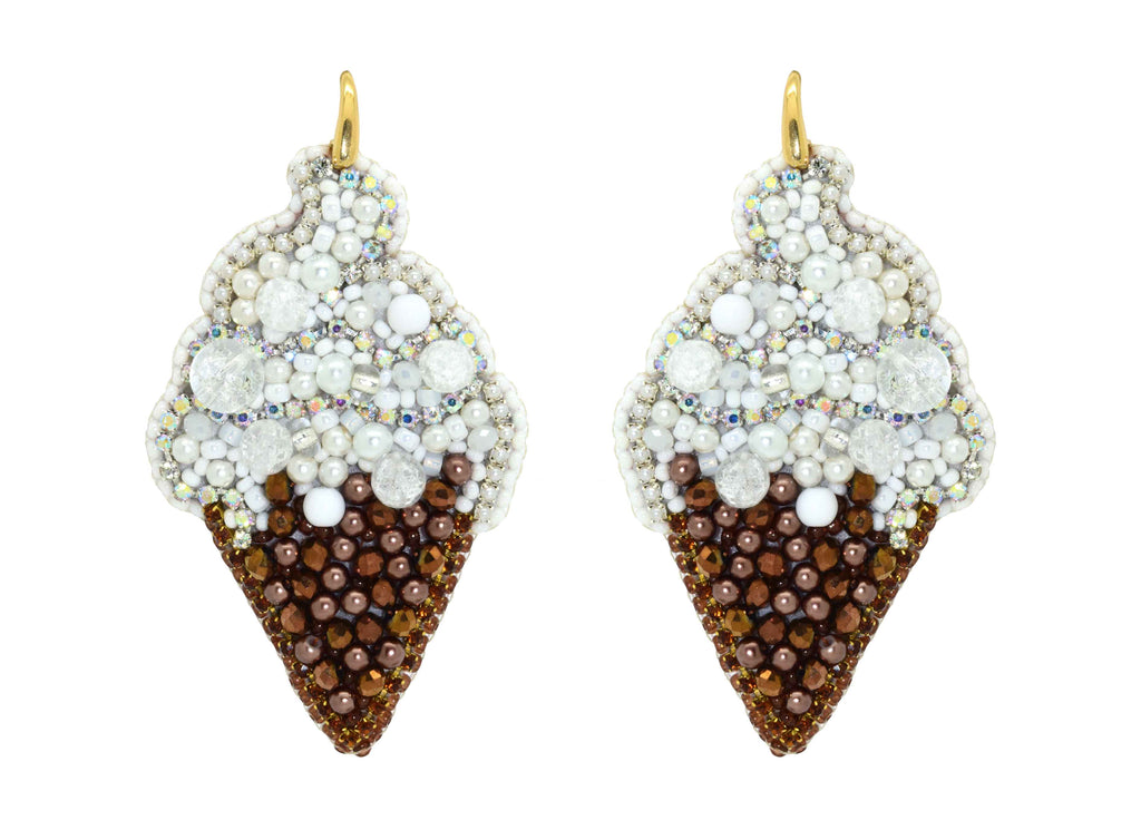 Vanilla Ice Cream | PatchArt Earrings