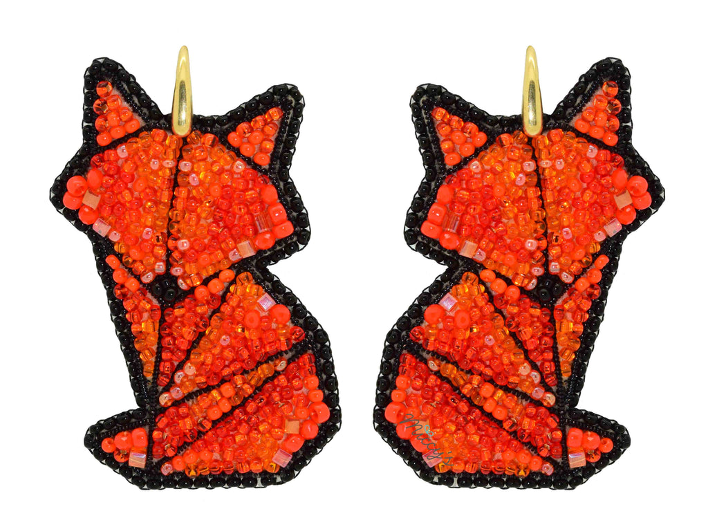 Kitsune | PatchArt Earrings