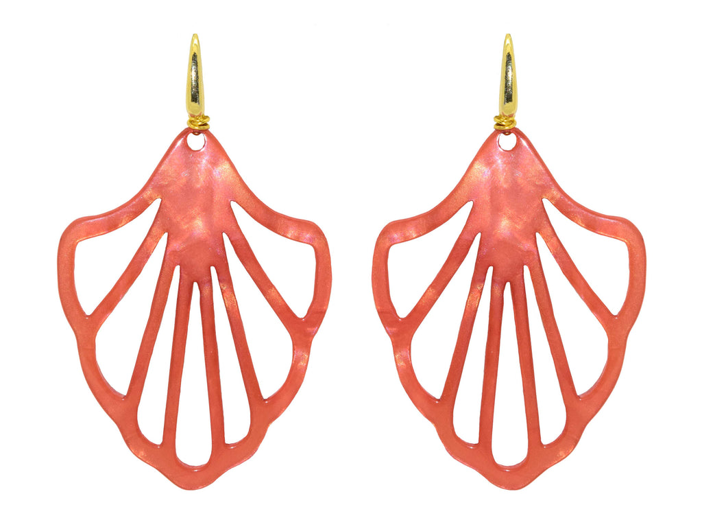 Lempicka Coral | Resin Earrings