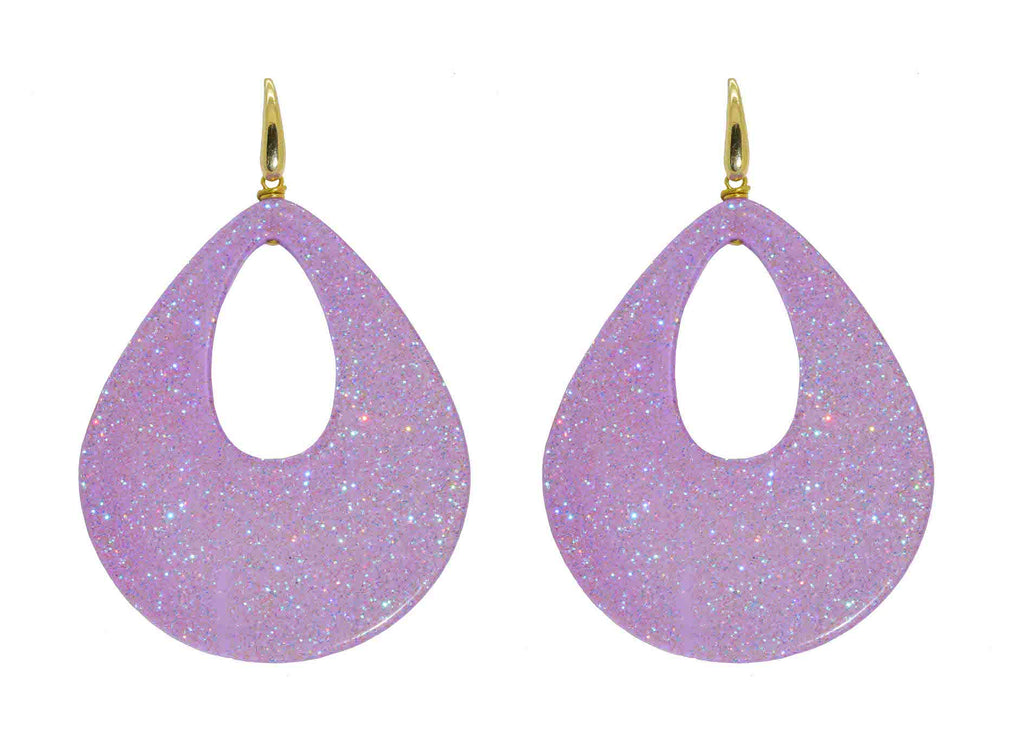 Lilac Moondust Drops | Resin Earrings
