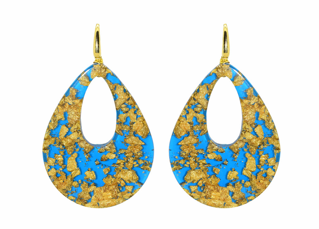 Blue Louis XIV Electric Blue - Le Roi Soleil | Resin Earrings
