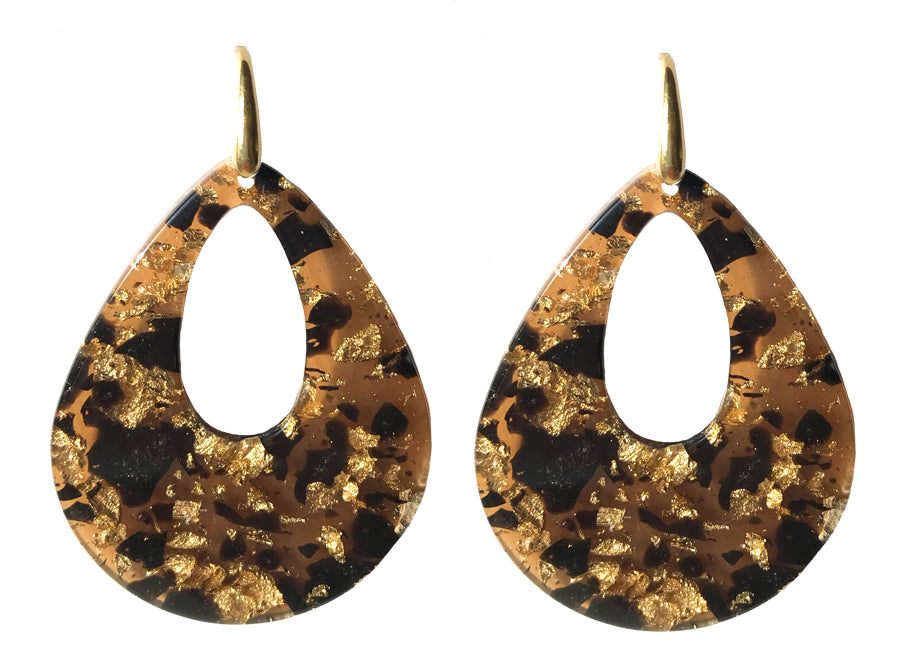 Louis XIV Tortoise | Resin Earrings