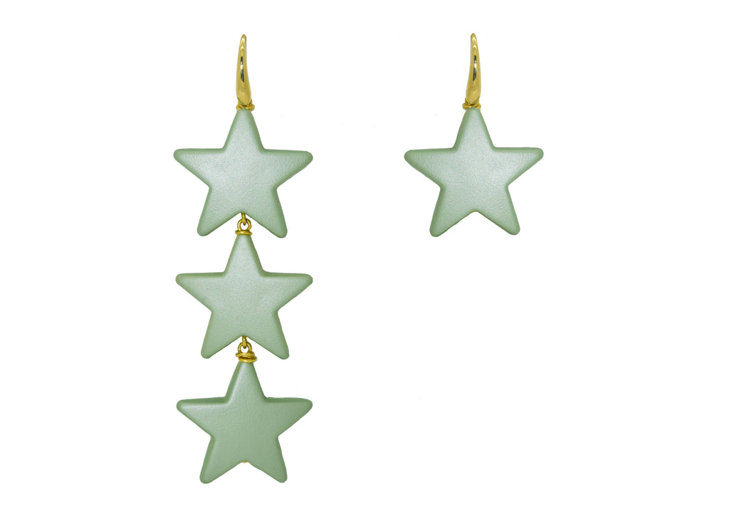 Pistache Fusion Stars | Resin Earrings