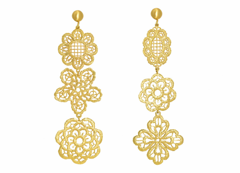 Pizzo Gold | Gold Line Earrings