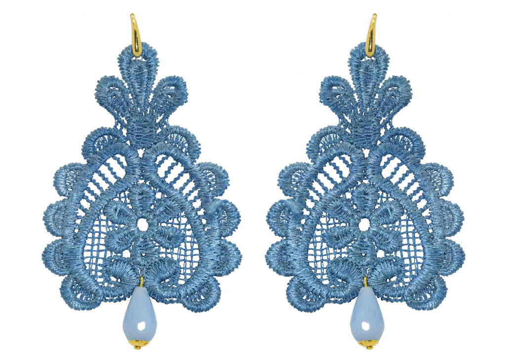 Pizzo Light Blue | Resin Earrings