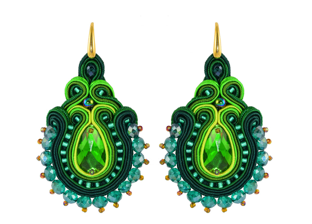 Polka Green | Velvet Dreams Earrings