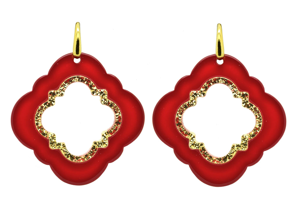 Red Caviar| Petite | Resin Earrings