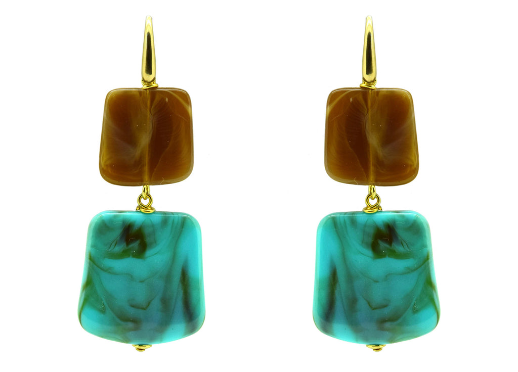 Rothko Hennessy XO | Resin Earrings