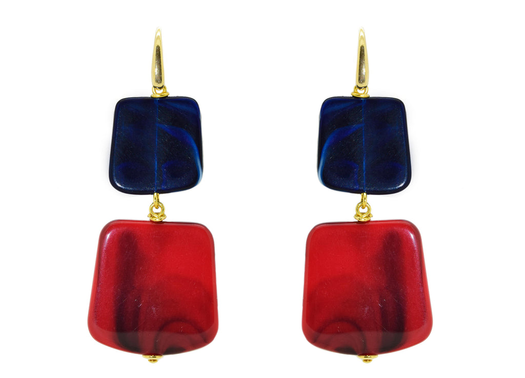 Rothko Midnight Tomato | Resin Earrings
