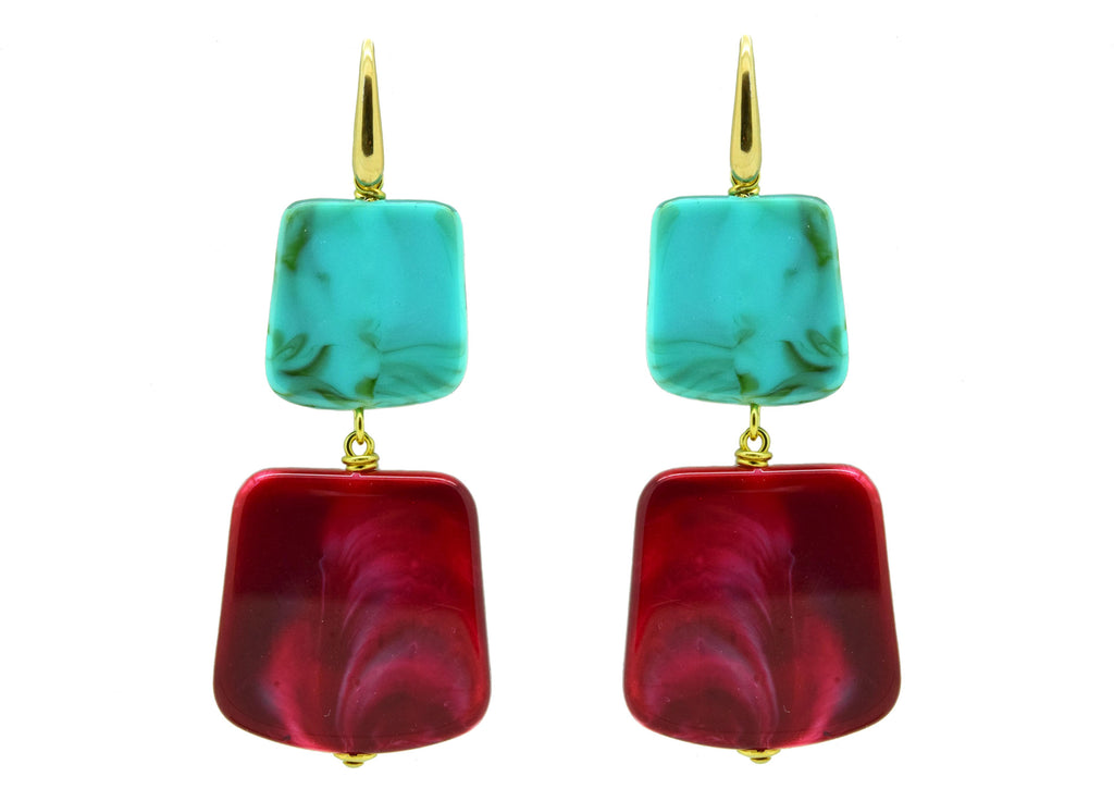 Rothko Pink Martini | Resin Earrings