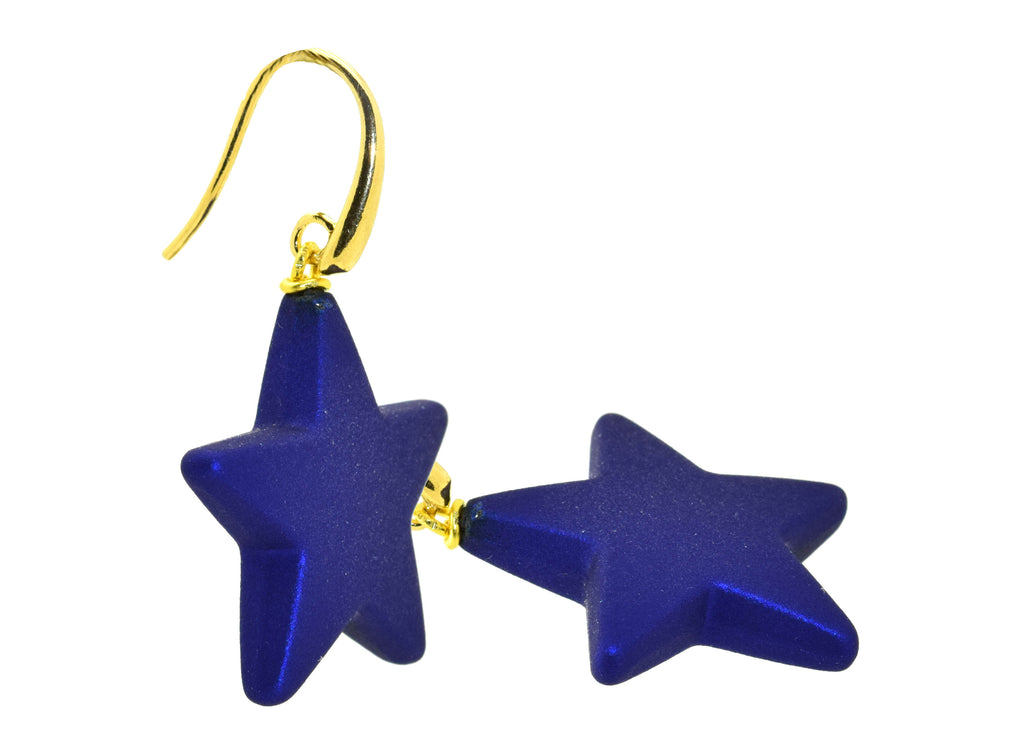 Single Star Blue | Resin Earrings