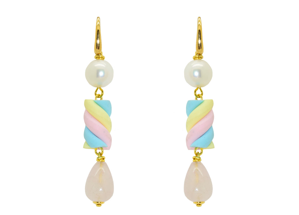 Soft Pastel Marshmallow Ear Candy! | Resin Oorbellen