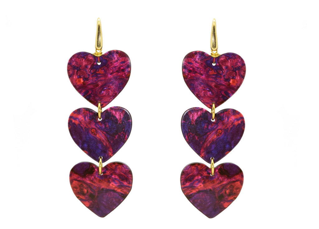Stargazer Hearts | Resin Earrings