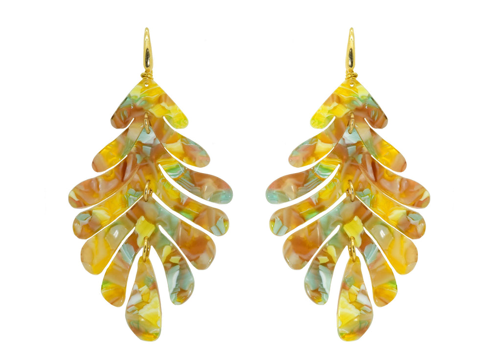 Sunset Leaves | Resin Earrings
