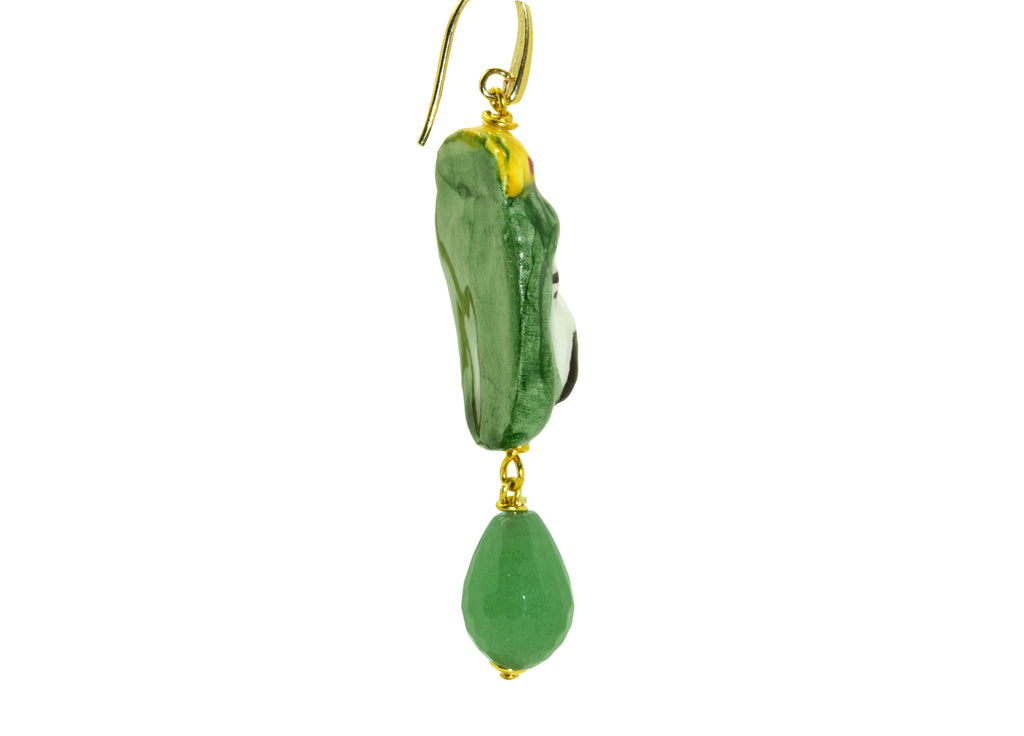 Teste di Moro Verde | Gemstone Earrings
