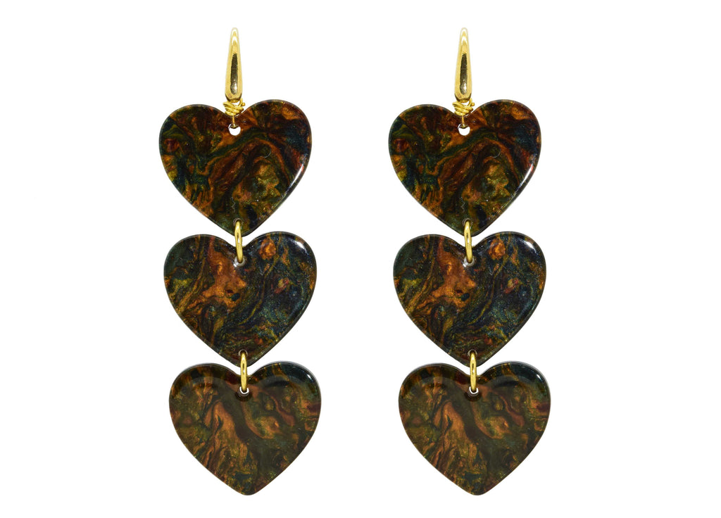 Wild at Heart | Resin Earrings