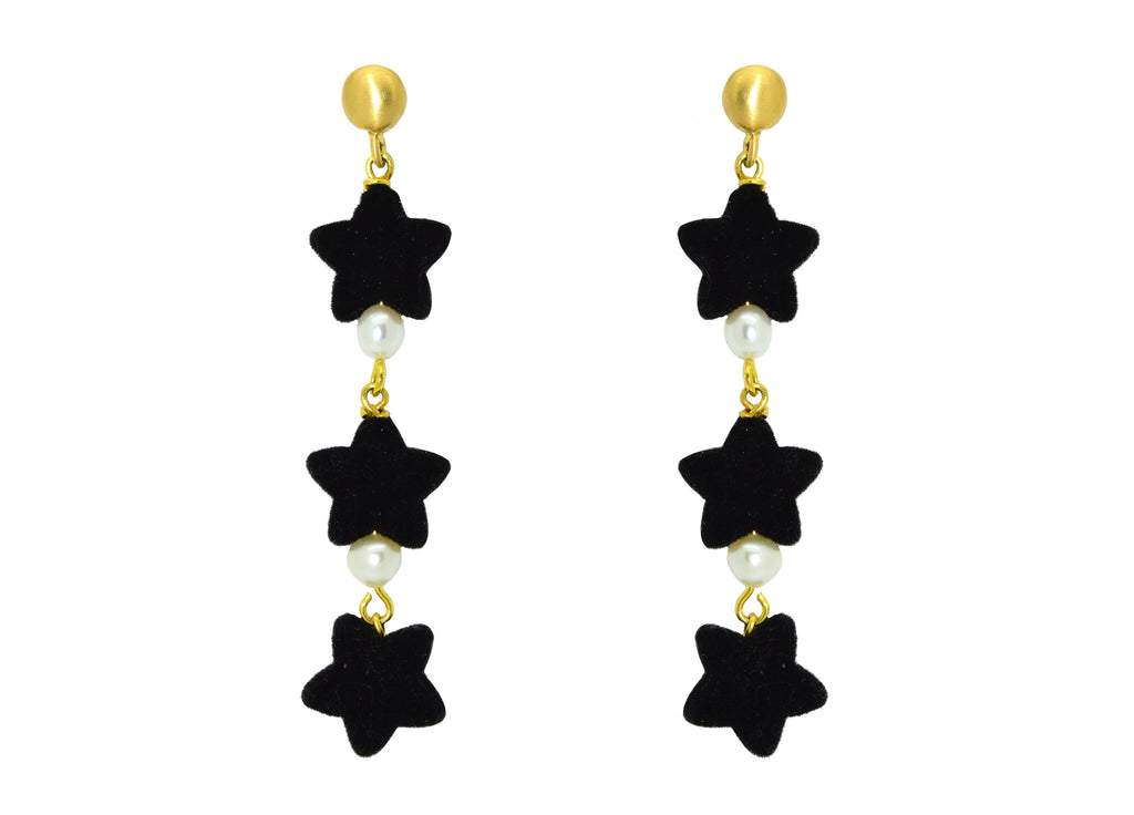 Wishful Thinking Black | Resin Earrings