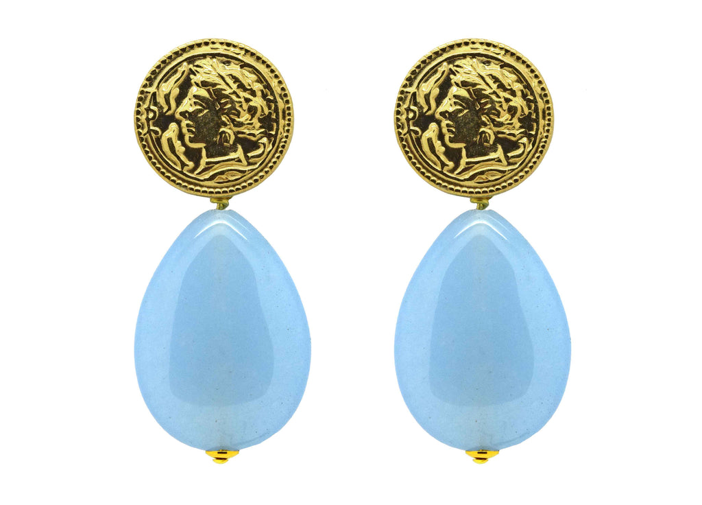 Light blue gemstone drops