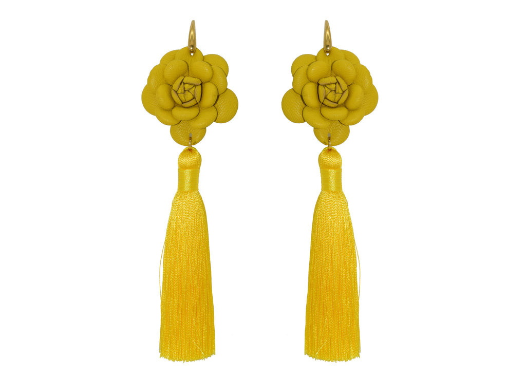 Camillia yellow with tassel