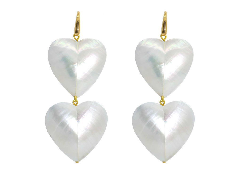 Two hearts beat as one | Shell Earrings