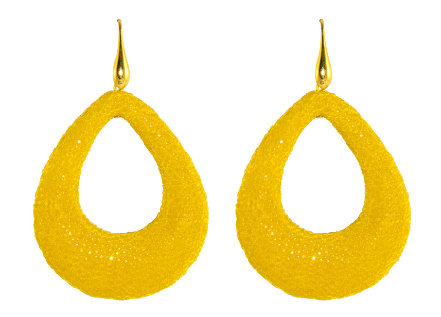 Yellow open drops | Skins Earrings