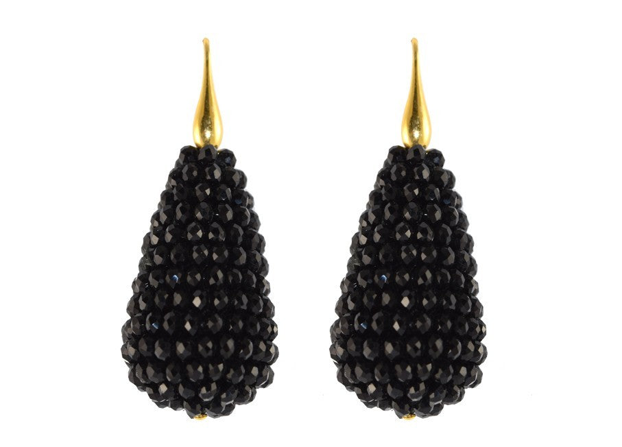 Black Crystal Drops | Crystals Earrings