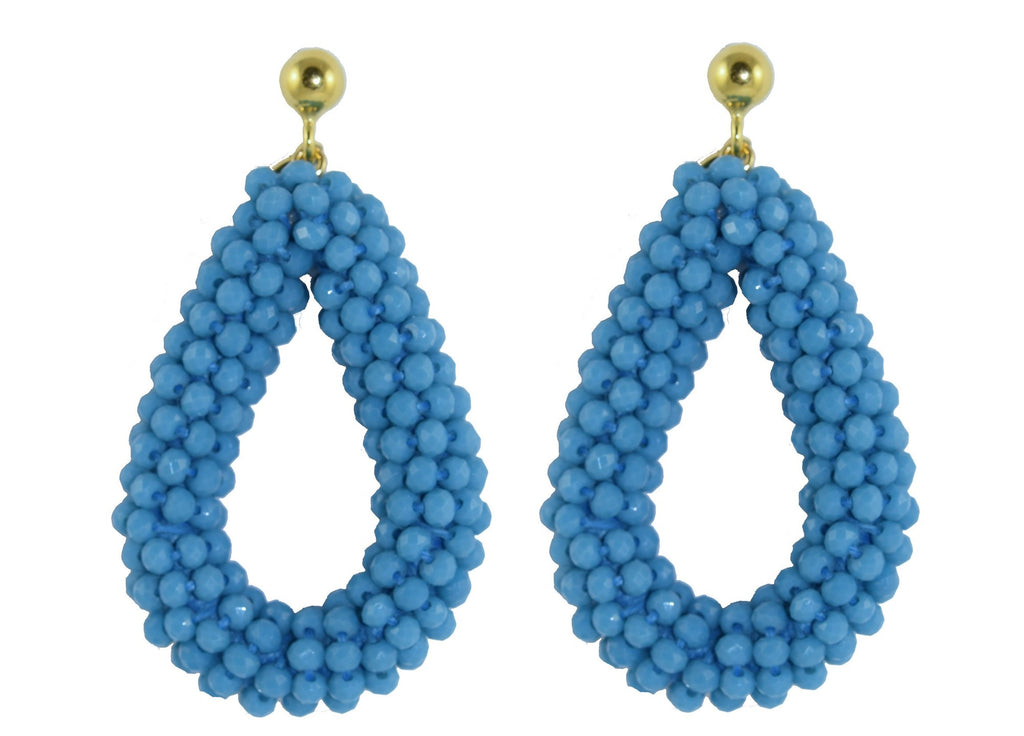 Sky Blue Open Crystal Drops | Crystals Earrings