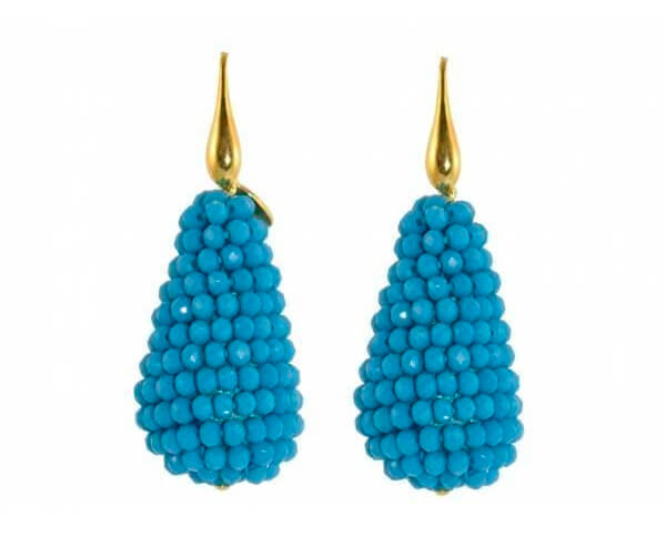 Flying Blue Crystal drops | Crystals Earrings
