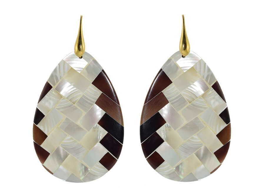 MOP Mosaic drops | Shell Earrings