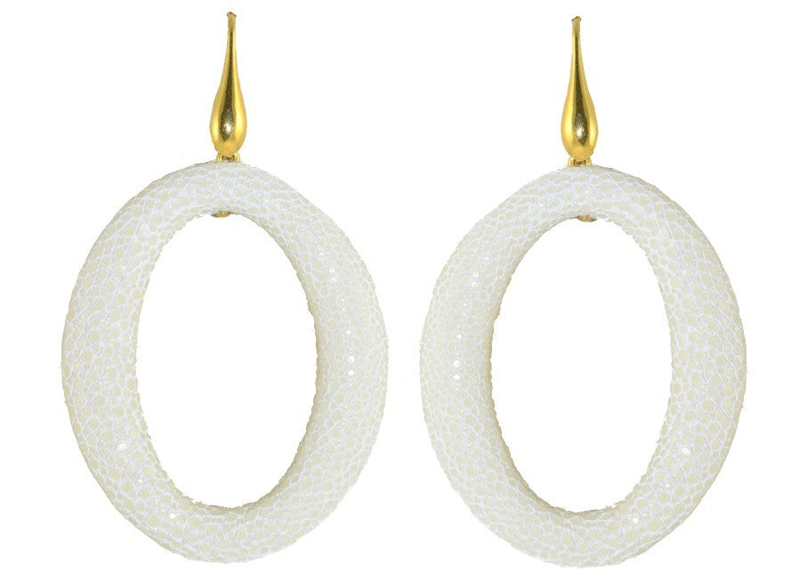 Off White Stingray Hoops | Skins Oorbellen