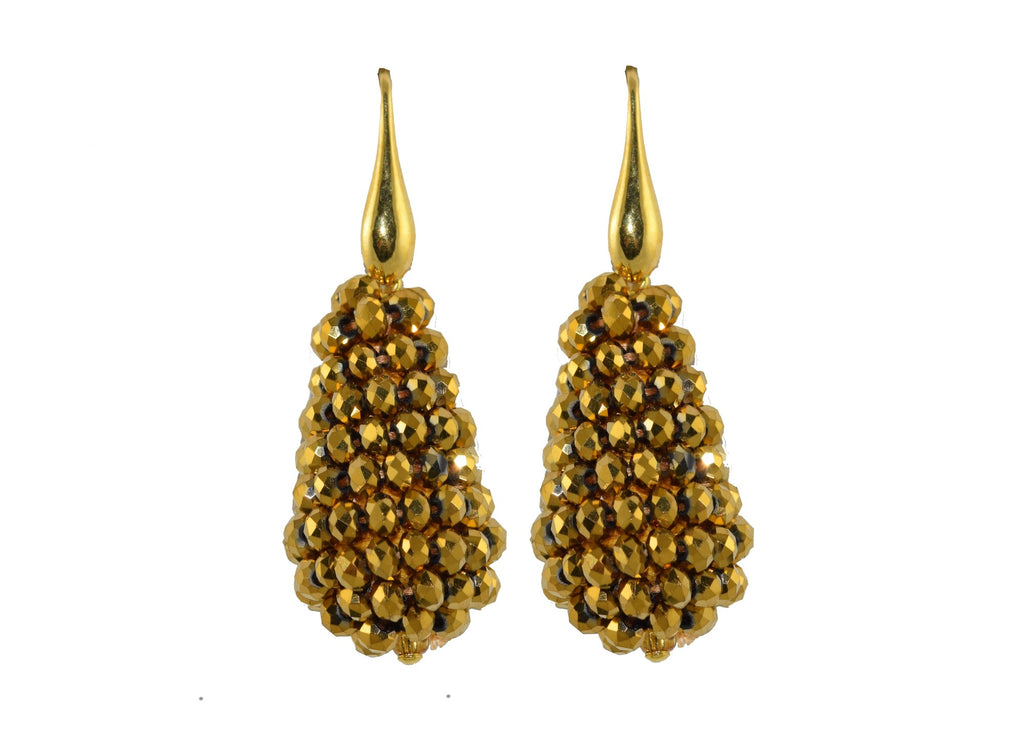 Golden Tears | Crystals Earrings