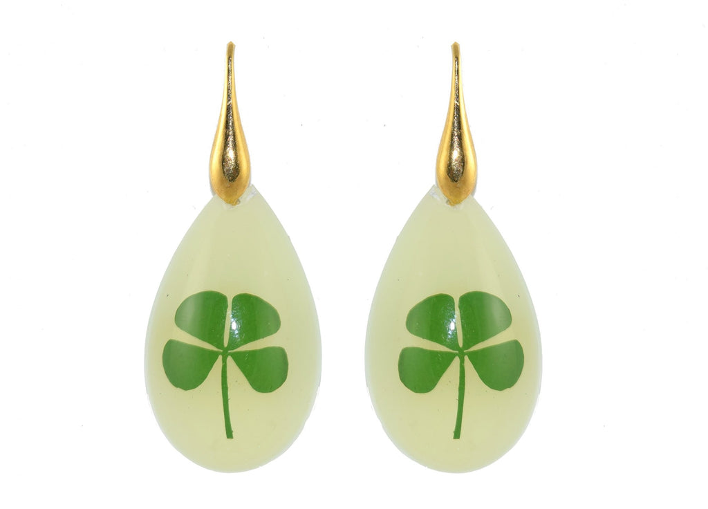 Glow in the dark real 4 leaf clovers