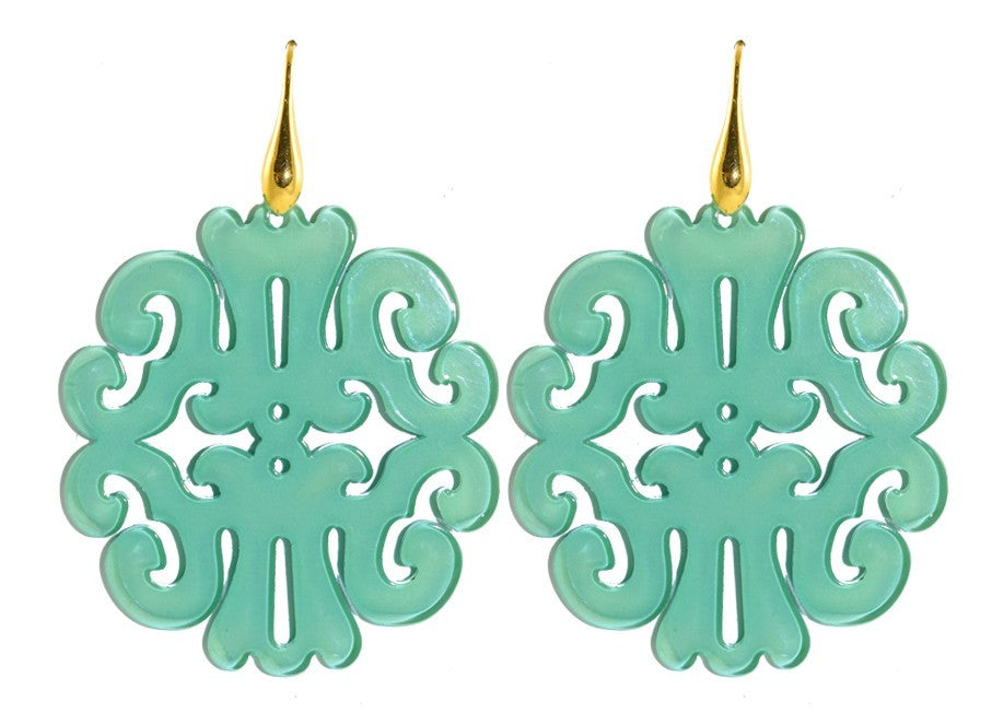 Mint green round ornaments