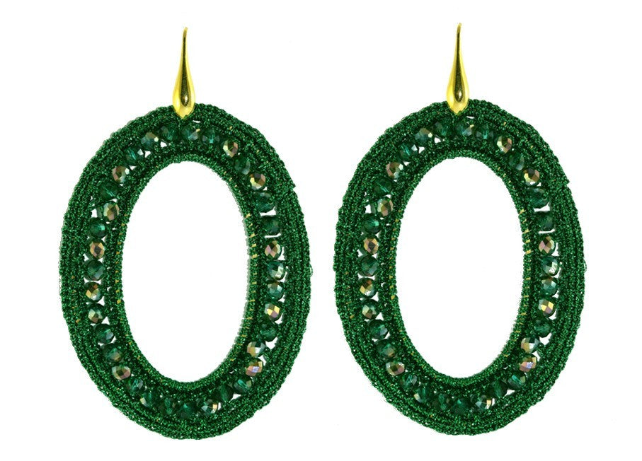Green Medium crochet ovals
