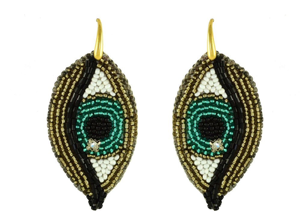 The Green Eye Dream | PatchArt Earrings