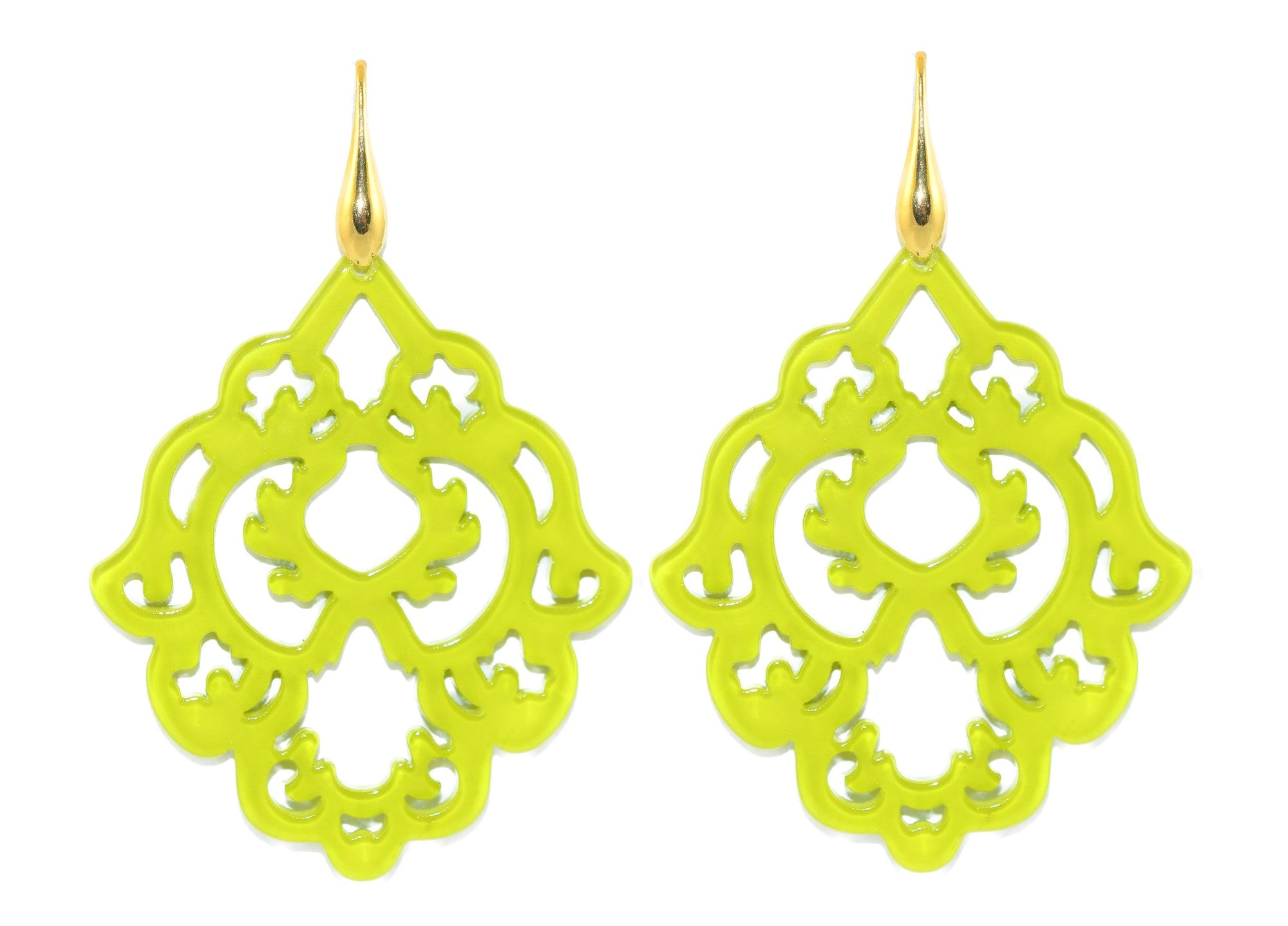 Lime Green Resin Ornaments