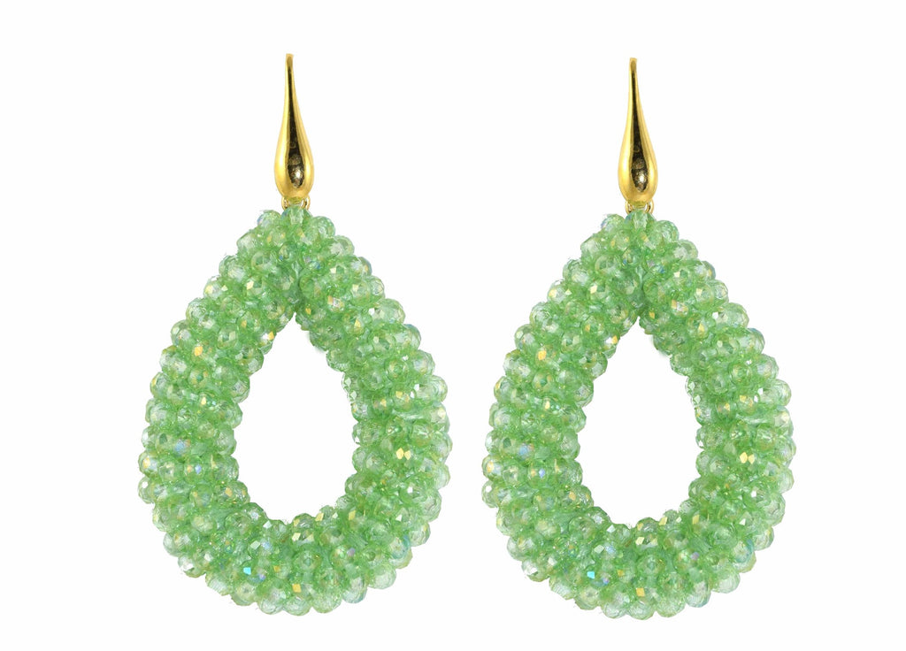 Fresh green open Crystal drops
