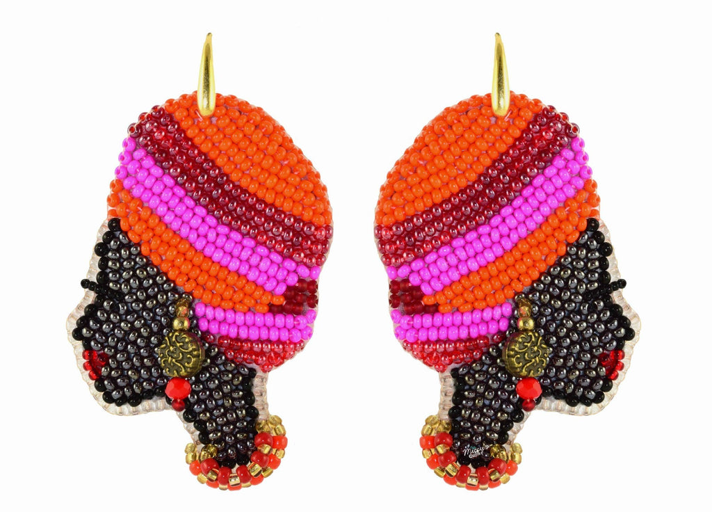 African lady | PatchArt Earrings