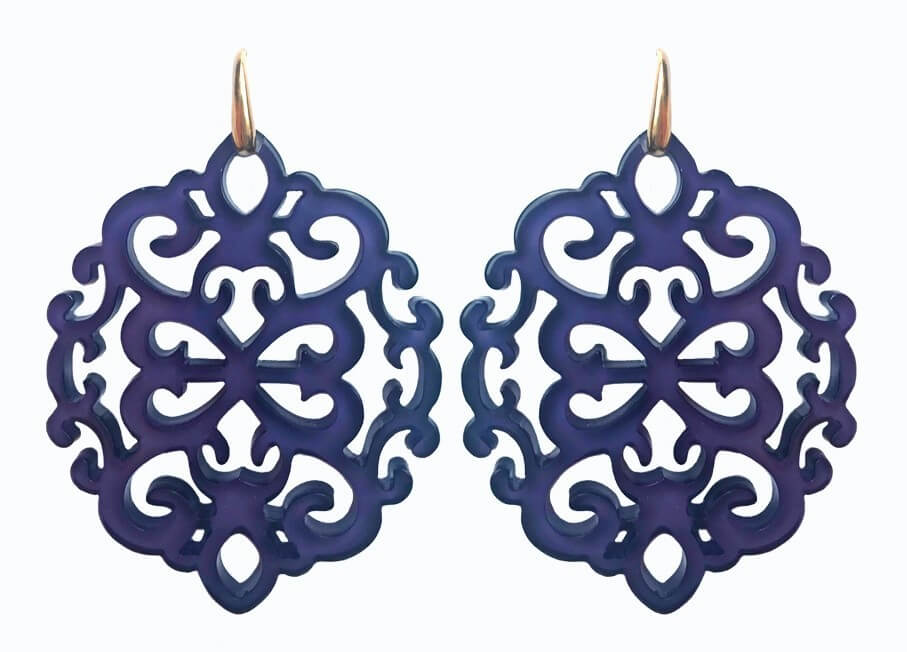 Ahlan Evening Blue | Resin Earrings