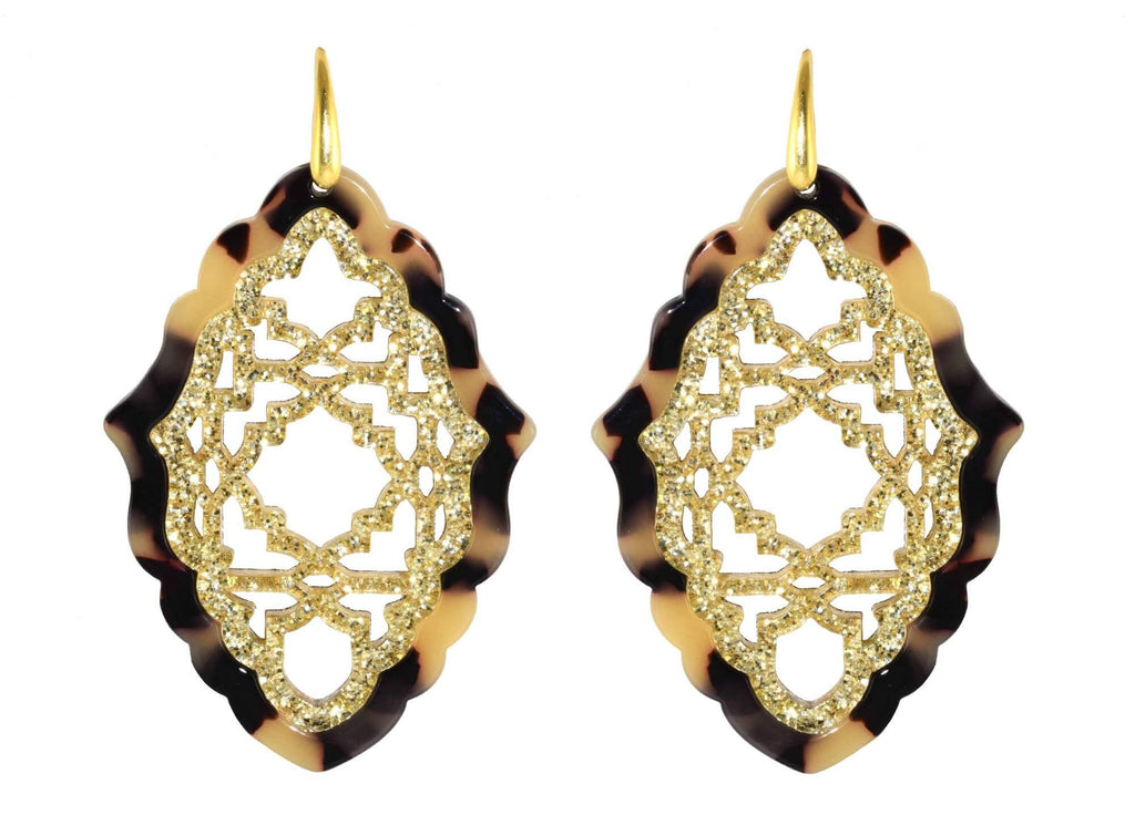Azizi Tortoise - Large | Resin Earrings