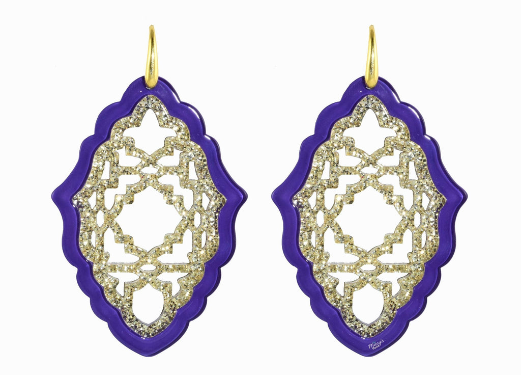 Azizi Violet - Large | Resin Earrings