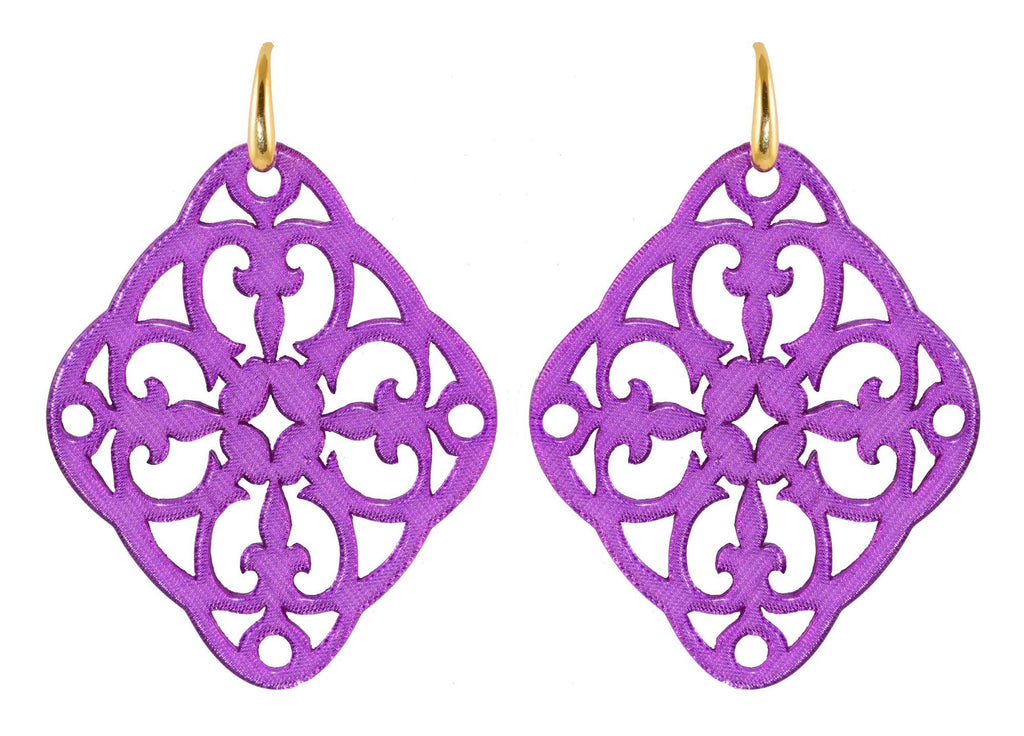 Azulejo violet | Resin Earrings