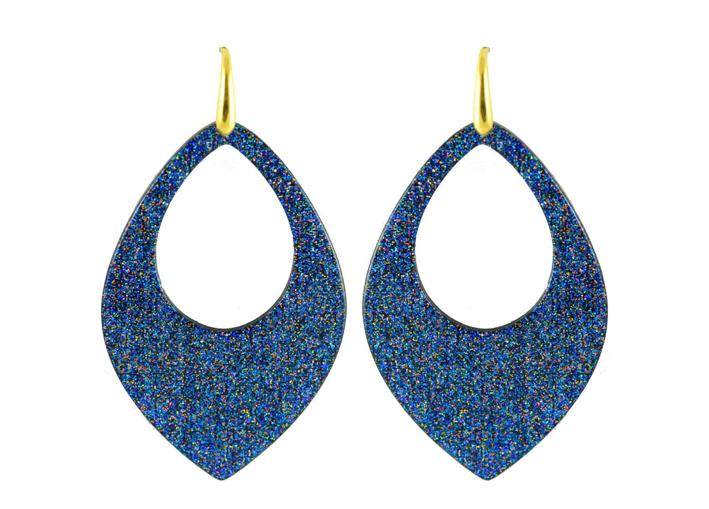 Blue Moondust drops | Resin Earrings